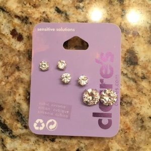 Claire's cubic zirconia earrings